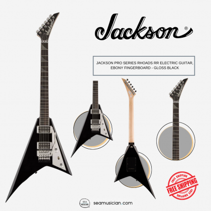 JACKSON PRO SERIES RHOADS RR ELECTRIC GUITAR, EBONY FINGERBOARD - GLOSS BLACK