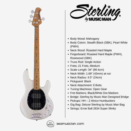 STERLING STINGRAY4 RAY34HH - PEARL WHITE COLOR
