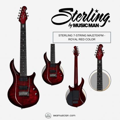 STERLING 7-STRING MAJ270XFM - ROYAL RED COLOR