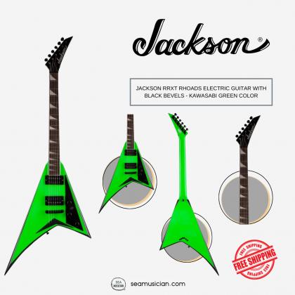 JACKSON RRXT RHOADS ELECTRIC GUITAR WITH BLACK BEVELS - KAWASABI GREEN COLOR