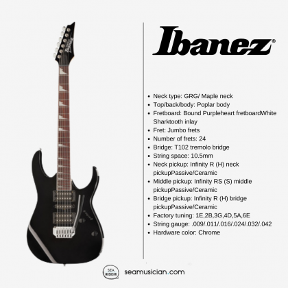 IBANEZ GIO SERIES GRG170DX BKN ELECTRIC GUITAR - BLACK KNIGHT