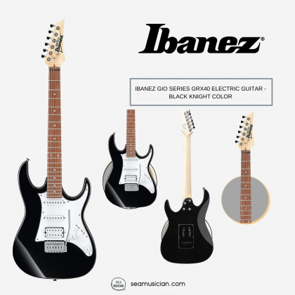 IBANEZ GIO SERIES GRX40 ELECTRIC GUITAR - BLACK KNIGHT COLOR