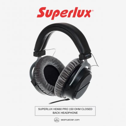 SUPERLUX HD660 PRO 150 OHM CLOSED BACK HEADPHONE