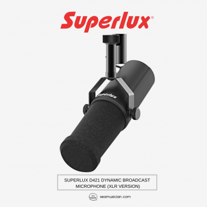 SUPERLUX D421 DYNAMIC BROADCAST MICROPHONE (XLR VERSION)