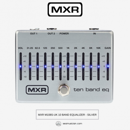 MXR M108S-UK 10 BAND EQUALIZER - SILVER