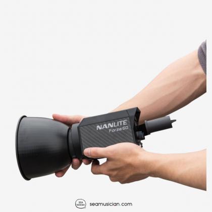 NANLITE FORZA 60 W/BH-FZ60, AS-BA-FZ60 (60 LED LIGHT 5600K, BATTERY HOLDER,BOWENS MOUNT ADAPTER)