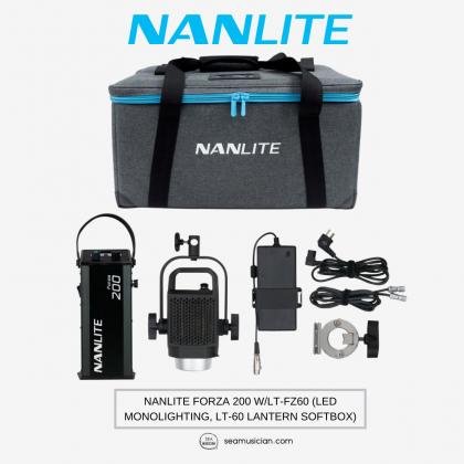 NANLITE FORZA 200 W/LT-FZ60 (LED MONOLIGHTING, LT-60 LANTERN SOFTBOX)
