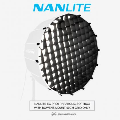 NANLITE EC-PR90 PARABOLIC SOFTBOX WITH BOWENS MOUNT 90CM GRID ONLY