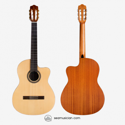 CORDOBA PROTÉGÉ C1M-CE SPURCE TOP MAHOGANY B&S WITH PICKUP FULL SIZE 4/4 CUTAWAY CLASSICAL GUITAR PACKAGE