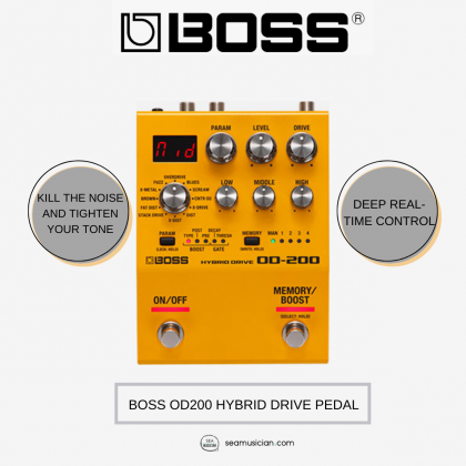 BOSS OD200 HYBRID DRIVE PEDAL (OD-200)