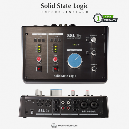 SOLID STATE LOGIC SSL2+ USB AUDIO INTERFACE WITH LEGENDARY 4K LEGACY MODE (SSL 2+/SSL-2+)