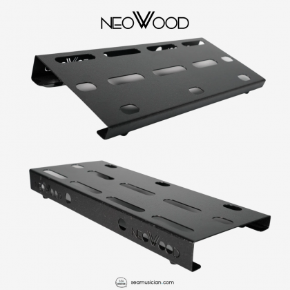 NEOWOOD PEDALBOARD 40X16X5CM LDH, CAN FIT 4 UNIT BOSS SIZE PEDAL, FULL METAL CHASIS, FREE VELCRO