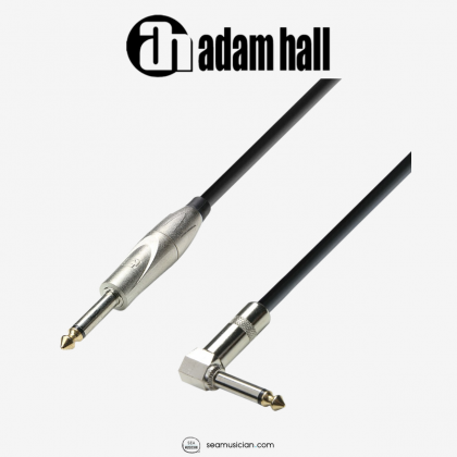 ADAM HALL CABLE K3IPR0600 QTR TO L SHAPED 6M JACK TO JACK INSTRUMENT CABLE 6METER