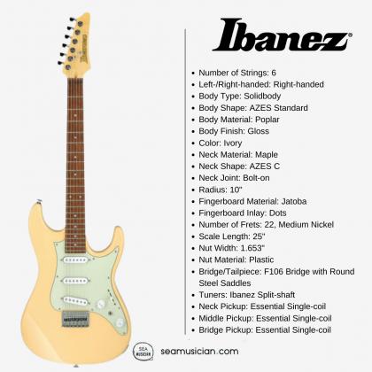 IBANEZ AZ ESSENTIAL ELECTRIC GUITAR AZES31 IV IVORY