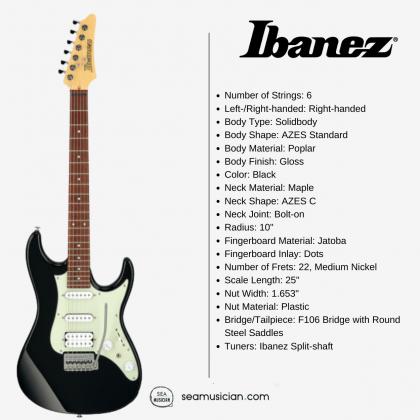 IBANEZ AZ ESSENTIAL ELECTRIC GUITAR AZES40 BK (HSS) BLACK