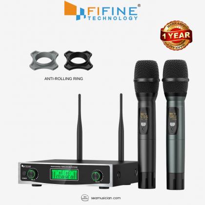 FIFINE K040 DUAL HANDHELD UHF WIRELESS MICROPHONE