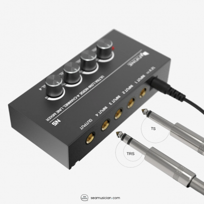 FIFINE N5 4 CHANNEL LINE MIXER WITH AC ADAPTOR