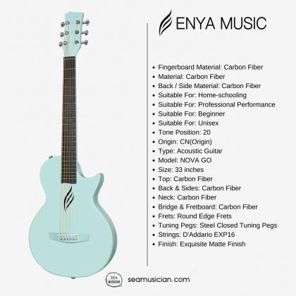 ENYA NOVA GO 33IN ACOUSTIC GUITAR BLUE