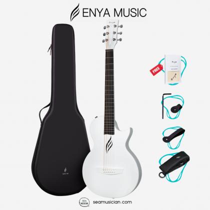 ENYA NOVA GO AI 33IN ACOUSTIC (AI EQ) GUITAR WHITE