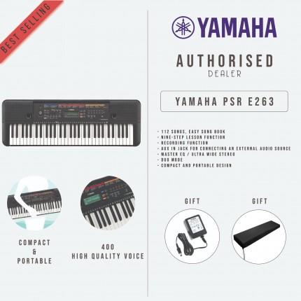 YAMAHA PSRE263 61-KEYS PORTABLE KEYBOARD WITH FREE DUST COVER  (PSRE263/PSR-E263)