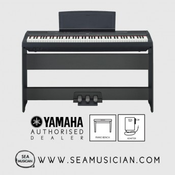 YAMAHA P-SERIES P-115 88-KEYS DIGITAL PIANO FREE BENCH & HEADPHONE - BLACK (YMH-P115B)