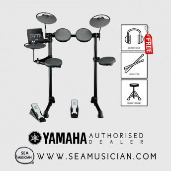 YAMAHA DTX-400K WITH DRUM THRONE, HEADPHONE AND 1-PAIR OF DRUMSTICK (YMH-DTX400K)