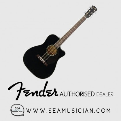 FENDER CC60SCE CC SERIES CONCERT ACOUSTIC GUITAR WITH EQ/PICKUP BLACK (FEN-F03-0961710006)