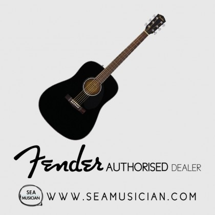 FENDER CD60S CD SERIES DREADNOUGHT ACOUSTIC GUITAR BLACK (FEN-F03-0961701006)