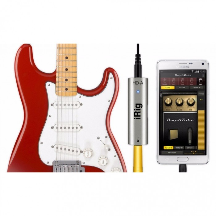 ik multimedia irig hd a digital guitar interface for samsung devices ik irighd a. Black Bedroom Furniture Sets. Home Design Ideas