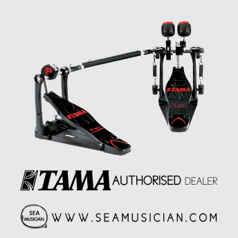 TAMA HP300TWB-BK IRON COBRA JR. LIMITED EDITION DOUBLE BASS DRUM PEDAL WITH CASE (TAMHP300TWBBK)