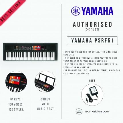 YAMAHA PSR F51 61-KEYS PORTABLE KEYBOARD (PSRF51/PSR-F51)