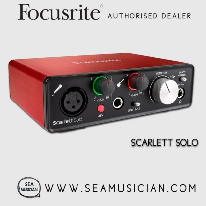 FOCUSRITE SCARLETT SOLO (2ND GEN) USB AUDIO INTERFACE WITH PRO TOOLS | FIRST (FOC-MOSC0019)