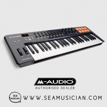 M-AUDIO OXYGEN 49 MKIV | 49-KEY USB MIDI KEYBOARD & DRUM PAD CONTROLLER (8 PADS / KNOBS / 9 FADERS), VIP SOFTWARE DOWNLOAD INCLUDED (M43-OXYGEN49IV)