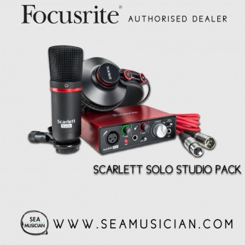 FOCUSRITE SCARLETT SOLO STUDIO (2ND GEN) USB AUDIO INTERFACE AND RECORDING BUNDLE WITH PRO TOOLS | FIRST (FOC-MOSC0021)