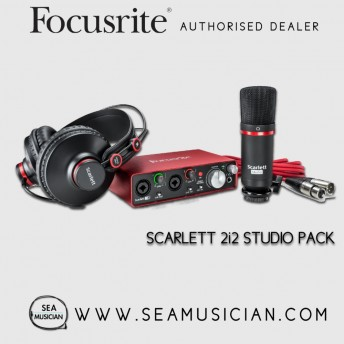 FOCUSRITE SCARLETT 2i2 STUDIO (2ND GEN) USB AUDIO INTERFACE AND RECORDING BUNDLE WITH PRO TOOLS | FIRST (FOC-MOSC0020)