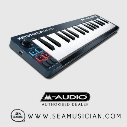 M-AUDIO KEYSTATION MINI 32 | ULTRA-PORTABLE 32-KEY USB MIDI KEYBOARD CONTROLLER (M43-KEYSTATIONMINI32II)