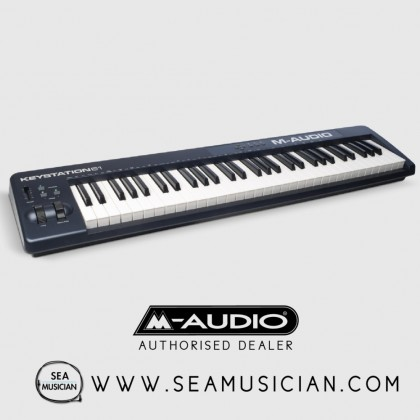 M-AUDIO KEYSTATION 61 II | 61-KEY USB MIDI KEYBOARD CONTROLLER WITH PITCH-BEND & MODULATION WHEELS (M43-KEYSTATION 61 II)