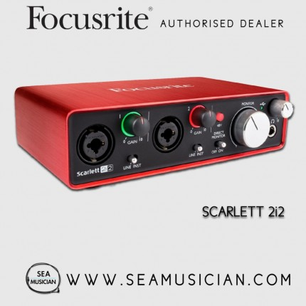 FOCUSRITE SCARLETT 2i2 (2ND GEN) USB AUDIO INTERFACE WITH PRO TOOLS | FIRST (FOC-MOSC0012)