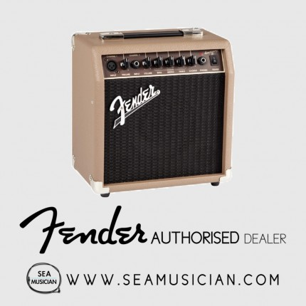 FENDER ACOUSTASONIC 15 WATT ACOUSTIC GUITAR COMBO AMPLIFIER (FEN-F03-2313704900)
