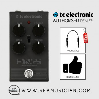 TC ELECTRONIC FANGS METAL DISTORTION EFFECT PEDAL FREE 2 PATCH CABLE (TC-CAT00)