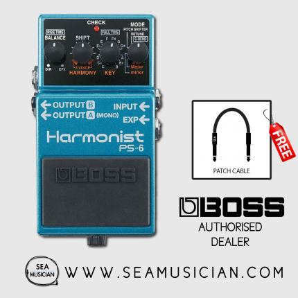 BOSS PS-6 HARMONIST EFFECT GUITAR PEDAL WITH FREE PATCH CABLE