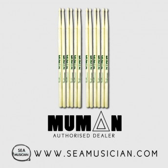 6 PAIR BUNDLE OF MUMAN DSH 7A HICKORY DRUMSTICK (MUMDSH-7A)