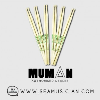 6 PAIR BUNDLE OF MUMAN DSH 5A HICKORY DRUMSTICK (MUMDSH-5A)
