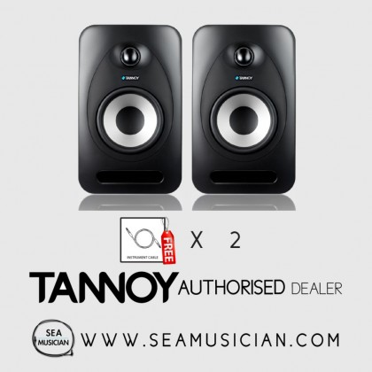 TANNOY REVEAL 502 5'' STUDIO MONITOR ACTIVE (PAIR) FREE 2 CABLES (TAN-T33980017690)