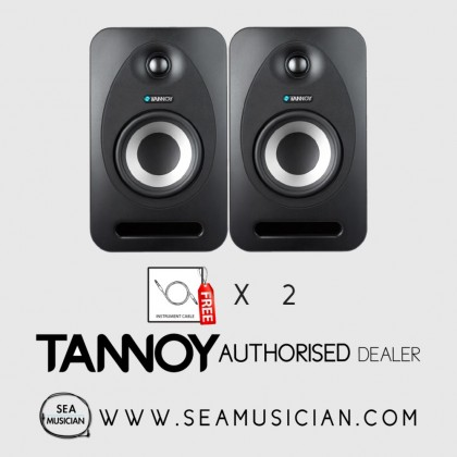 TANNOY REVEAL 402 4'' STUDIO MONITOR ACTIVE (PAIR) FREE 2 CABLES (TAN-T33980017670)
