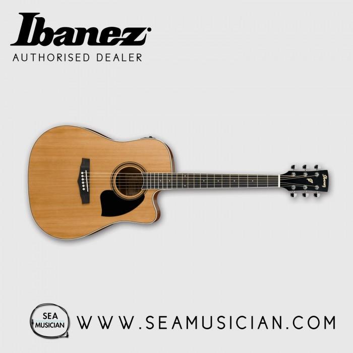 ibanez pf17ece lg acoustic guitar with pickup iba pf17ecelg. Black Bedroom Furniture Sets. Home Design Ideas
