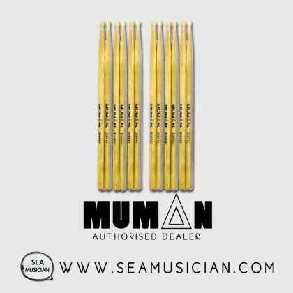6 PAIR BUNDLE OF MUMAN DSO 5A OAK DRUMSTICK (MUMDSO-5A)