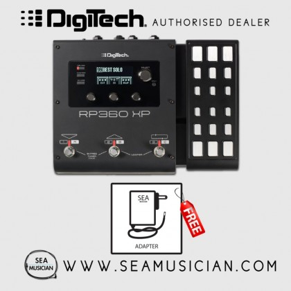 DIGITECH RP360XP GUITAR MULTI-EFFECT FLOOR PROCESSOR WITH USB STREAMING AND EXPRESSION PEDAL WITH FREE ADAPTER (DIGITECH-RP360XPV)