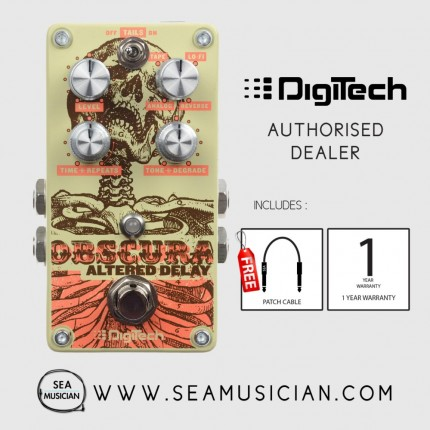 DIGITECH OBSCURA ALTERED DELAY GUITAR EFFECT PEDAL WITH FREE PATCH CABLE (DIG-OBSCURA)