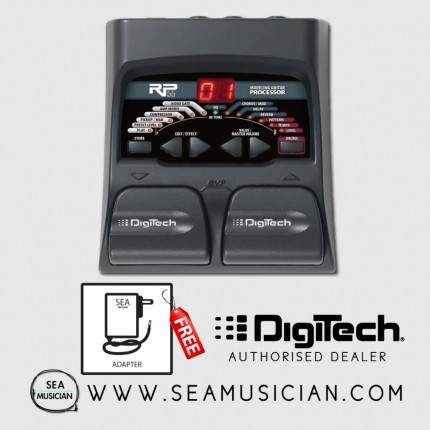 DIGITECH RP55 GUITAR MULTI-EFFECT PROCESSOR WITH FREE ADAPTER (RP55V)